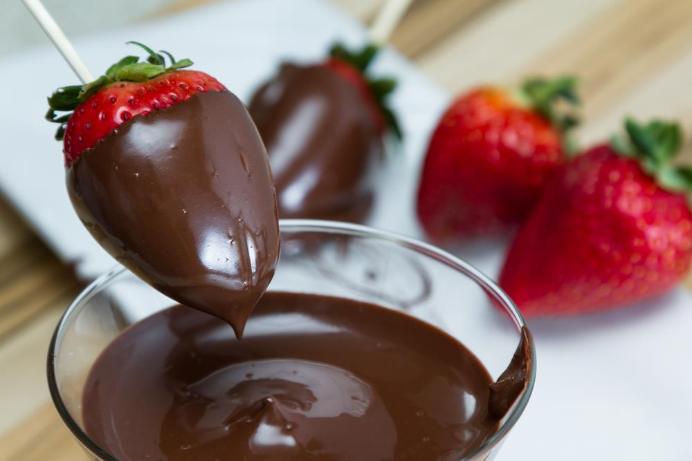 Strawberry dipped chocolate